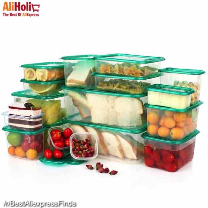 17 Pcs set of food containers lunch boxes