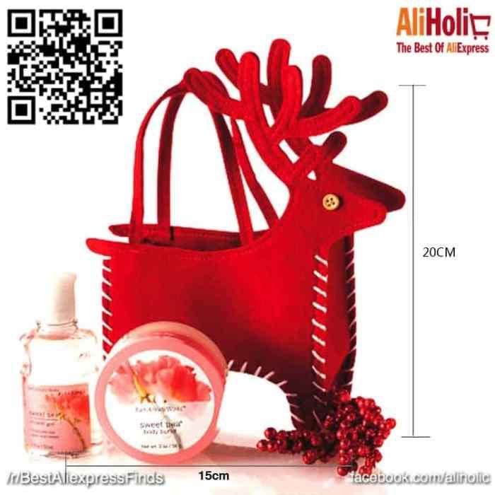 2-Piece Deer Christmas bags