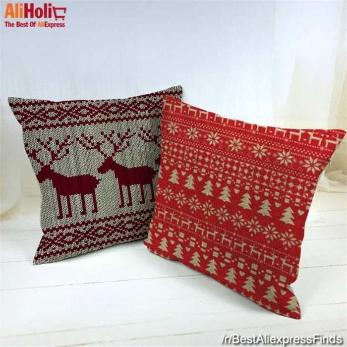 Christmas festive pillowcases