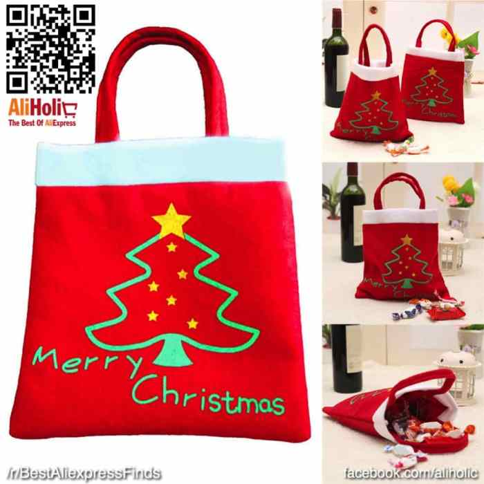Large Christmas bags for candy : gifts