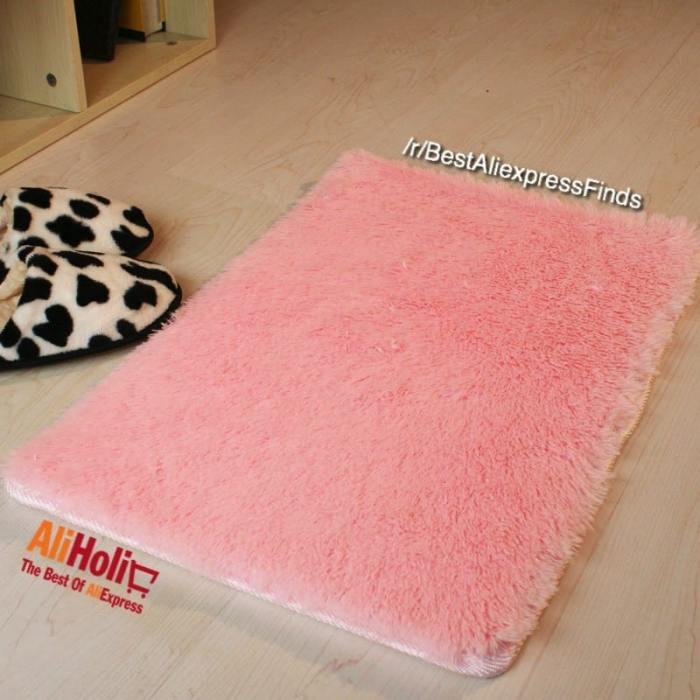 Microfiber soft rug
