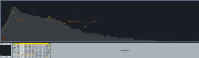 Ableton EQ analyser