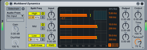 Ableton Multi-band dynamics