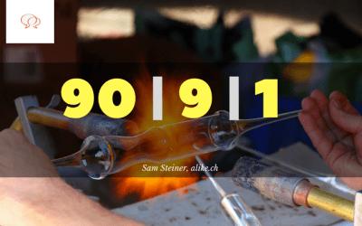 Die 90-9-1 Regel – leider ist fast niemand kreativ