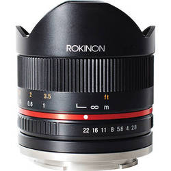 Rokinon 8mm f2.8 Fisheye Black