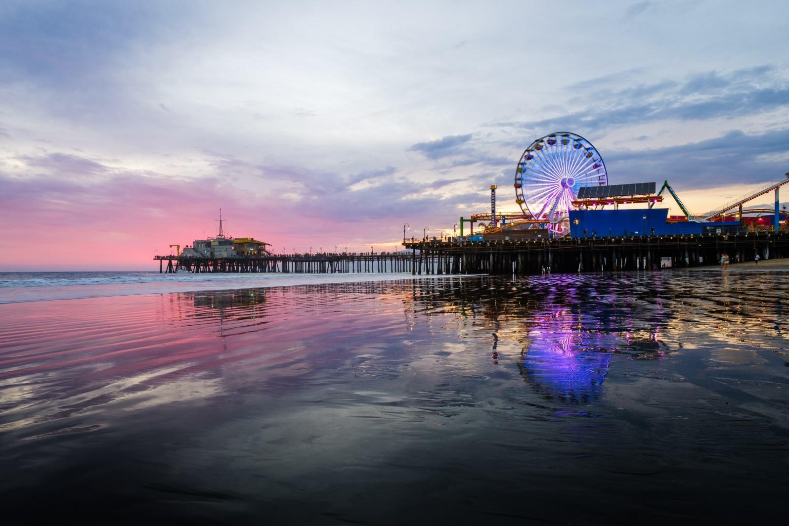 Santa Monica Pier shot with the Fujifilm 14mm.