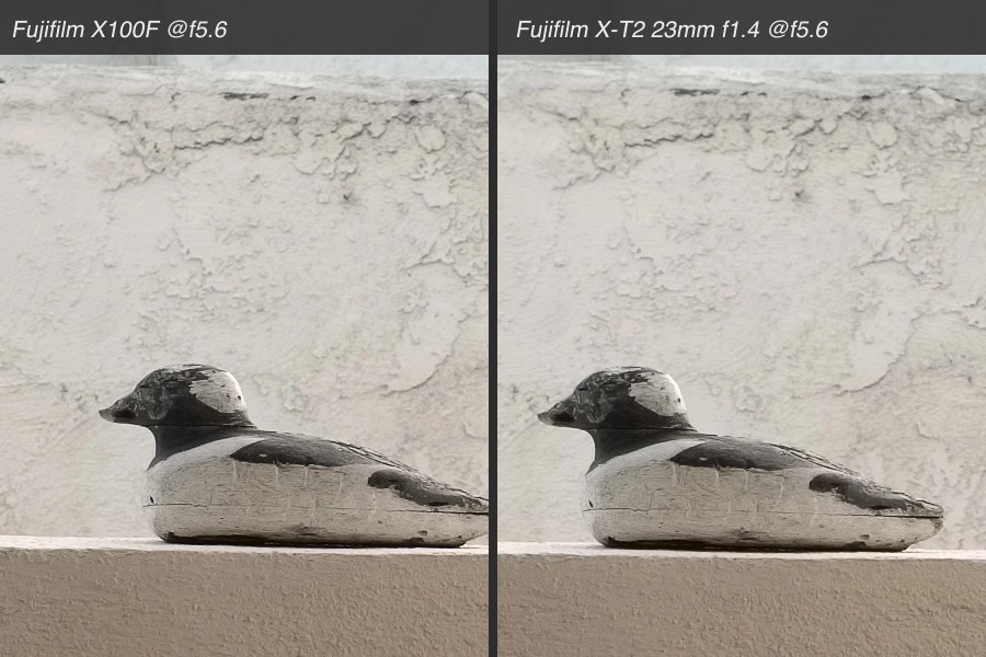 X100F vs XF23mm f1.4 comparison