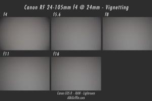 Canon RF 24-105mm f4L Vignetting Sample at 24mm