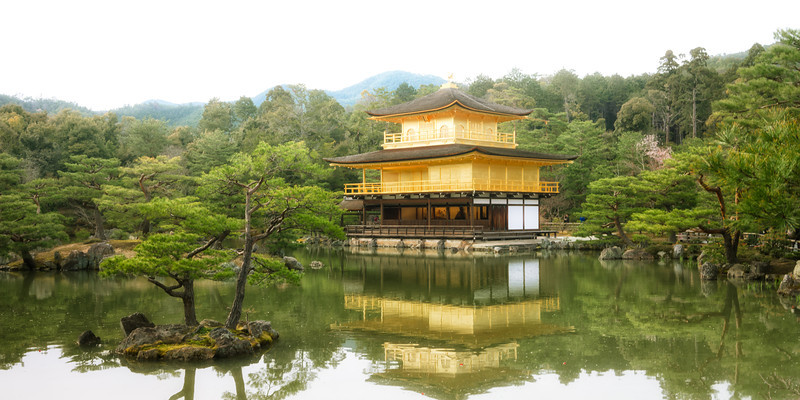 Photo Of The Temple Of The Golden Pavilion Japan