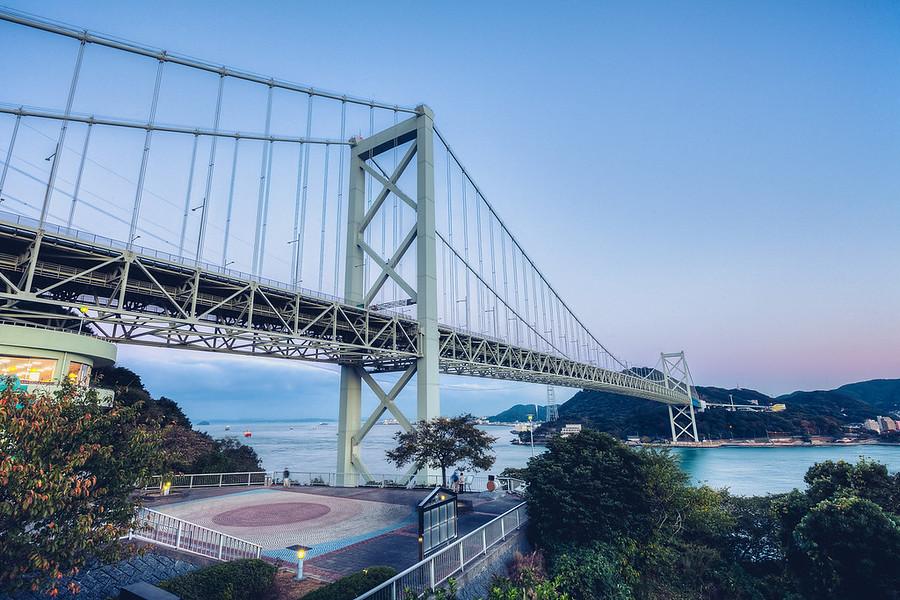 Kanmonkyo Bridge, JapanThe bridge connecting the main island of Japan to the southern Island.