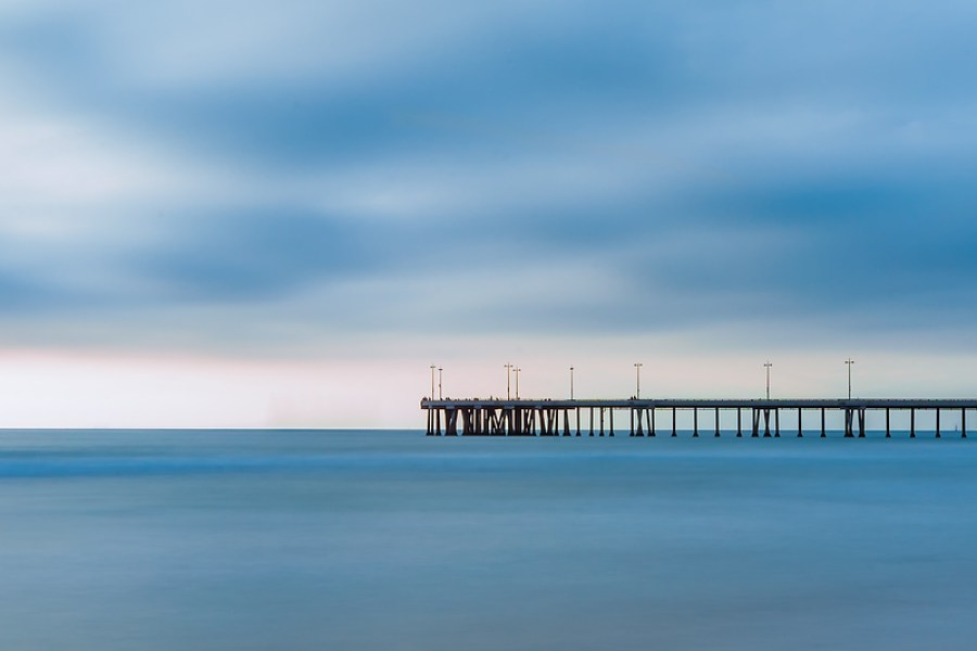 Venice Beach - Blue Infinity Long exposure at the Venice Beach Pier. The light was very magical as it defused through the clouds.
