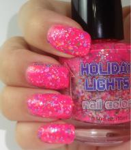 neon pink-multi glitter