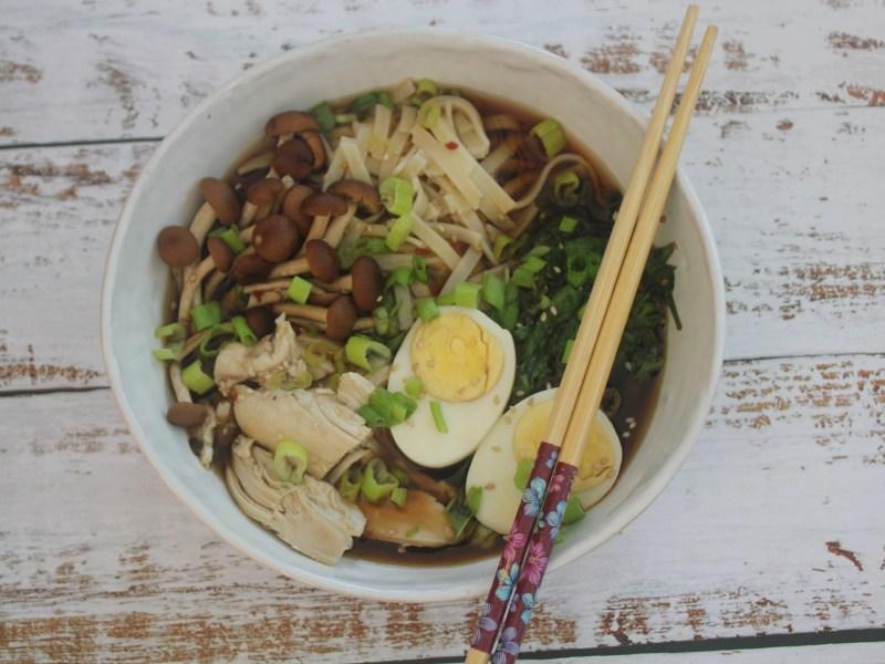Easy Chicken Ramen with GF Noodles