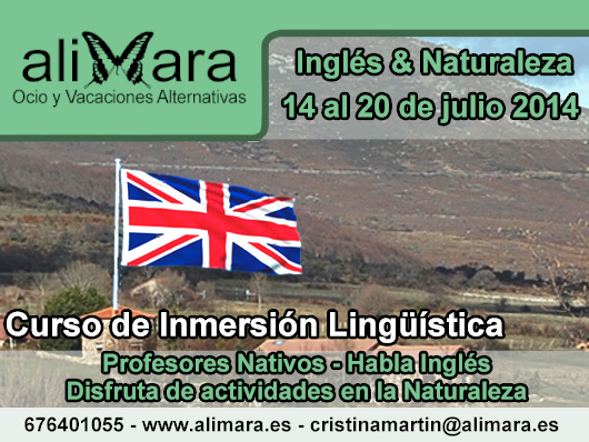 Curso Inmersión Lingüística en Inglés en la Naturaleza