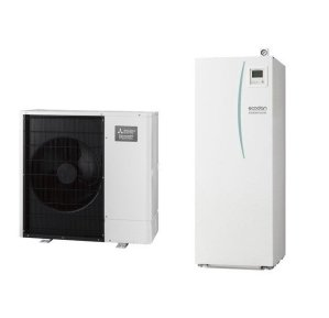 Термопомпа Mitsubishi Electric Ecodan,модел: EHST20C-VM2C/PUHZ-SW75YAA Power inverter с вграден водосъдържател само за отопление (8 kW - 400V)-0