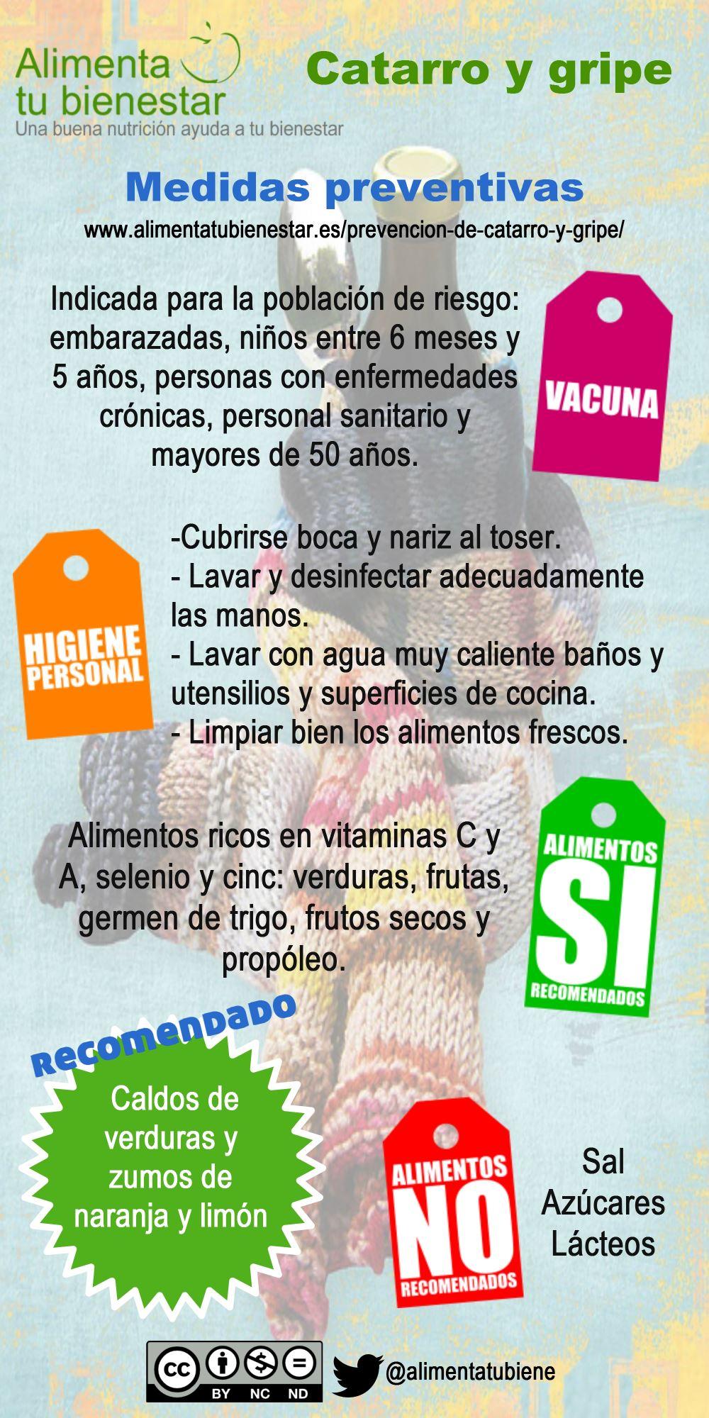 Medidas preventivas para catarro y gripe