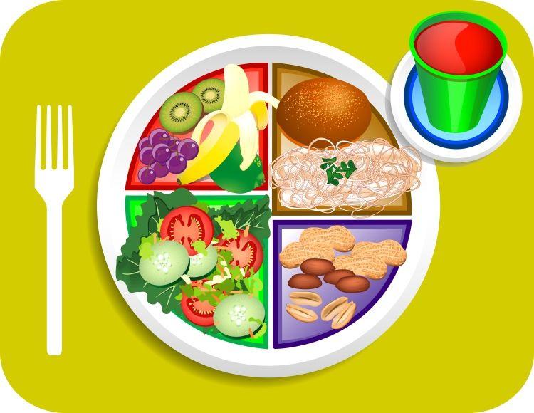 plato saludable para comer de manera saludable