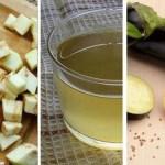 Agua de berenjena y limón para reducir el colesterol