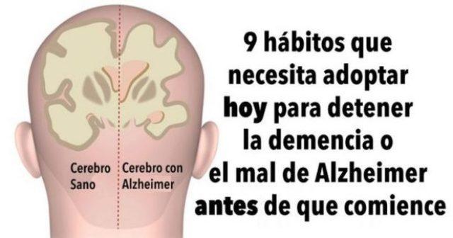 Hábitos para detener la demencia o Alzheimer