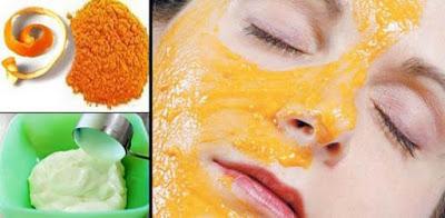 Mascarilla Facial de Cascara de naranja y yogur