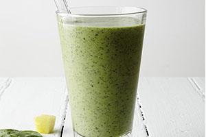 Smoothie de té verde con especias