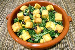acelga con tofu