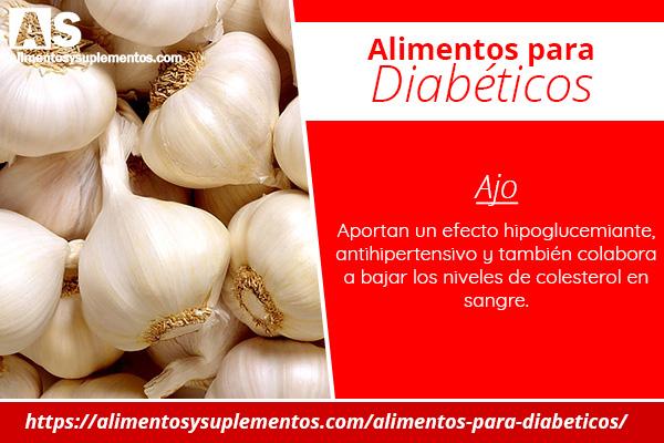 alimentos para diabeticos ajo