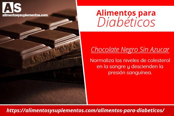 alimentos para diabeticos chocolate negro