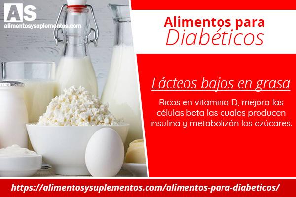 alimentos para diabeticos lacteos