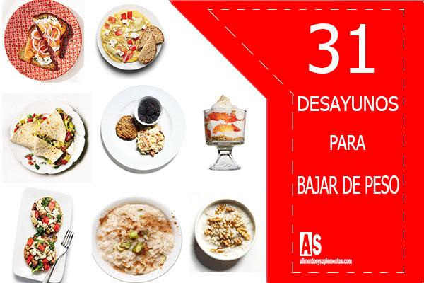 31 desayunos para bajar de peso