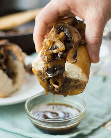 Sándwich vegetariano francés
