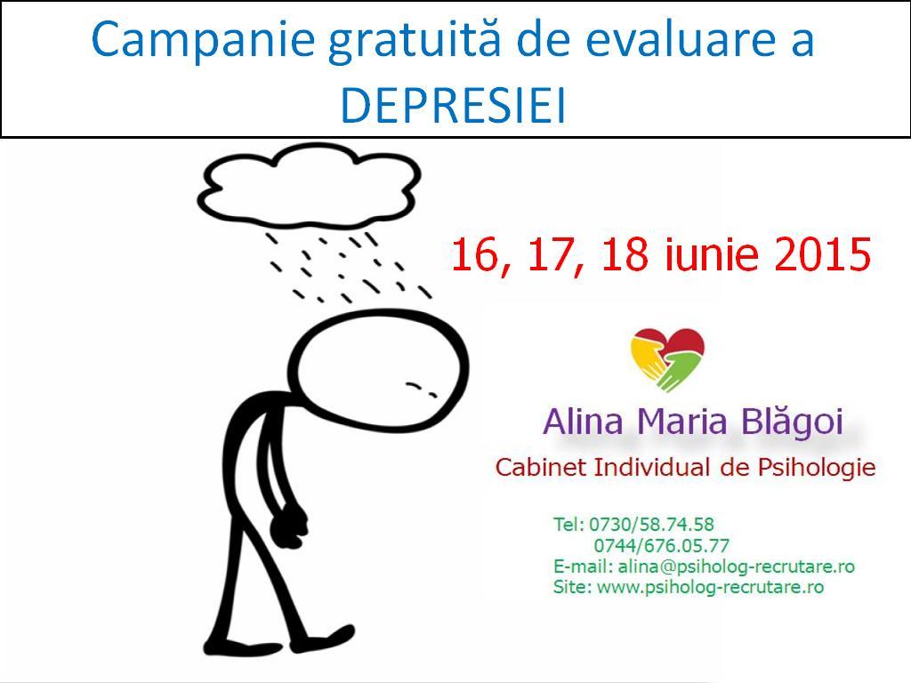 Campania gratuita de evaluare a depresiei