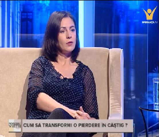 Emisiunea Provocarile Vietii la Speranta TV: Cum sa transformi o pierdere in castig?  – 12.11.2015