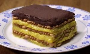 Prăjitură cu biscuiţi şi vanilie