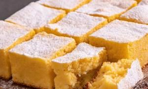 Prăjitură pufoasă cu mălai