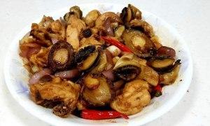 Mâncare de pui şi ciuperci