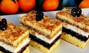 Prăjitură Excelenta cu trei creme