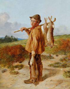 William_Hemsley_The_young_poacher_1874