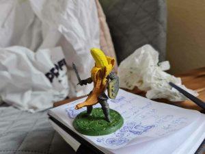 Cavaler banana model 3D pictat