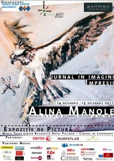 afis expozitie pictura Alina Manole_ jurnal in imagini_ la hotel World Trade Center