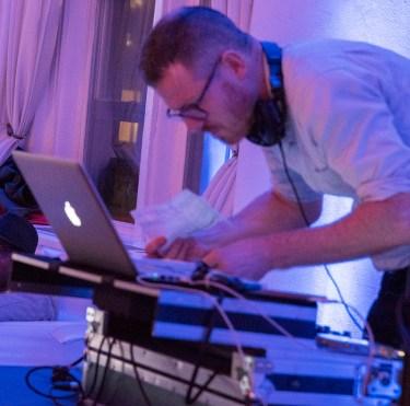 The DJ. Wedding Photo by Alina Oswald.