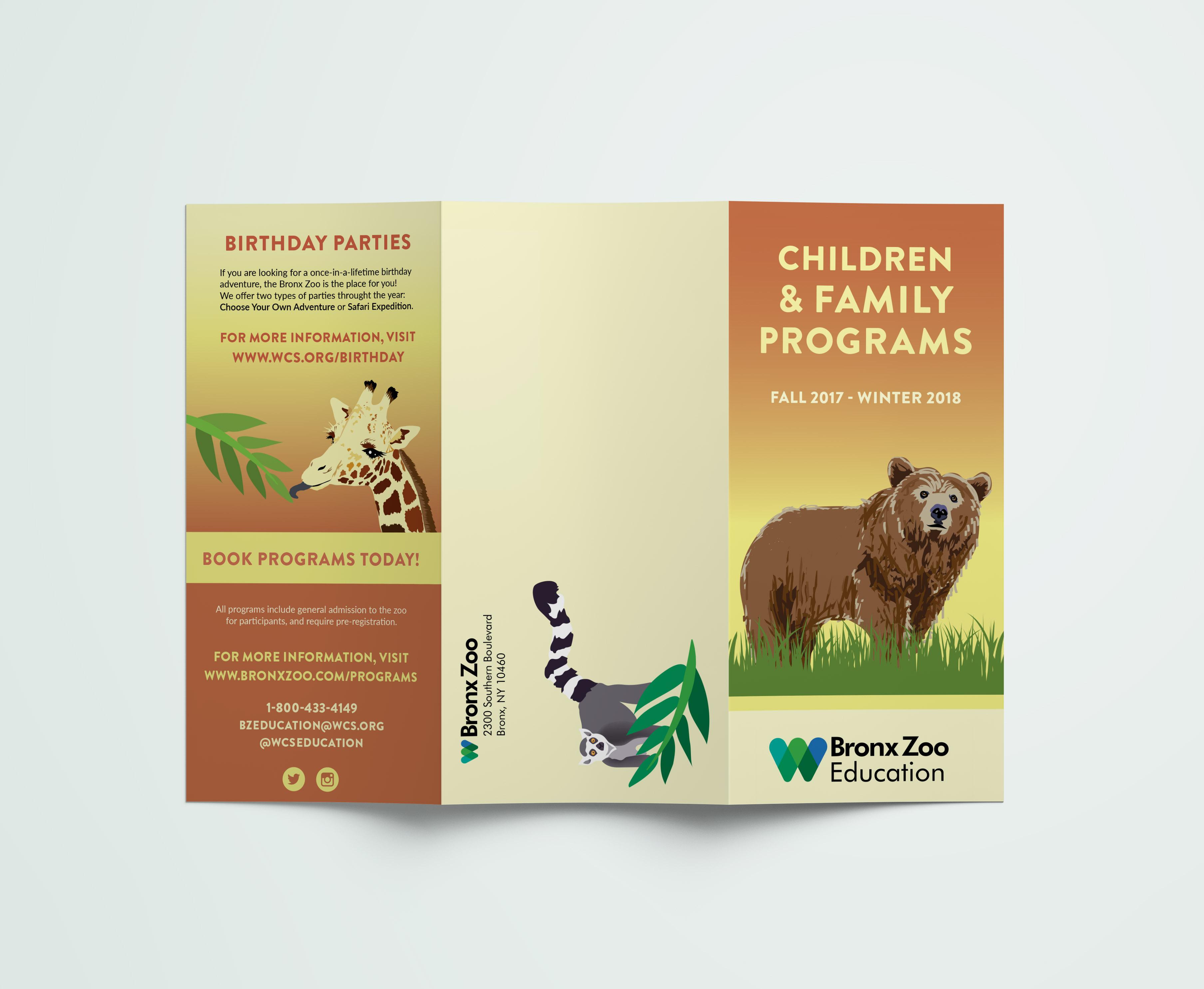Bronx Zoo Brochure