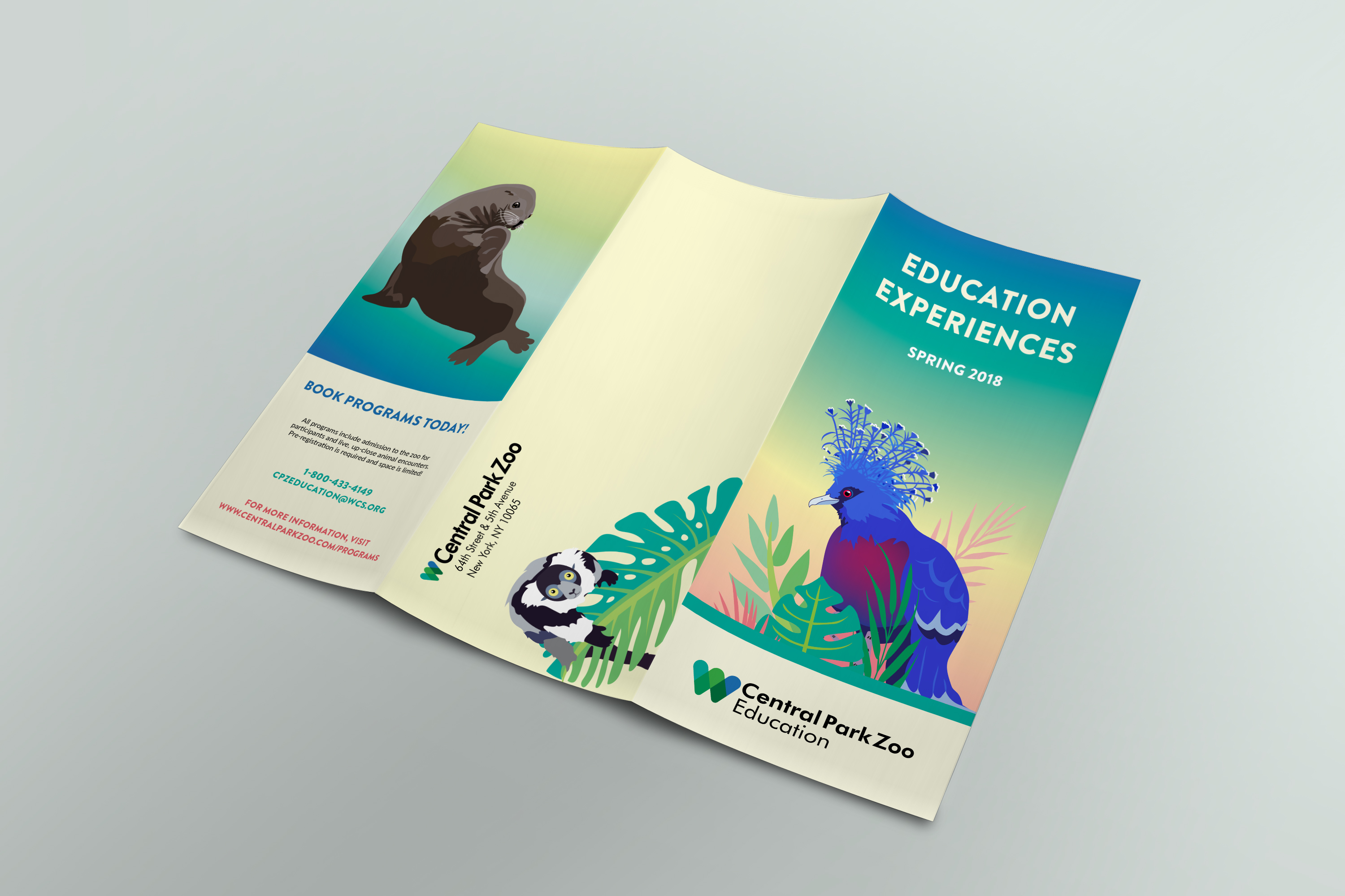 Central Park Zoo Trifold Brochure