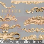 50 carving collection stl