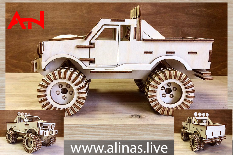 Read more about the article jeep 3D Puzzle Laser Cutting CNC Router