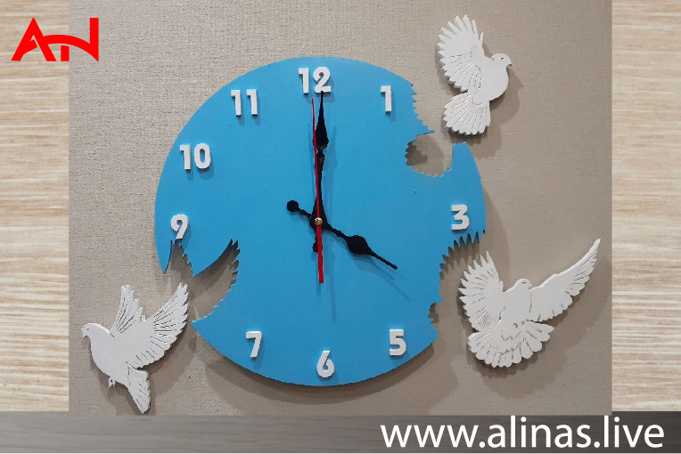 Read more about the article Laser Cut Pigeon Clock Wall