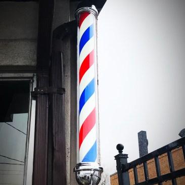 Barber sign installation