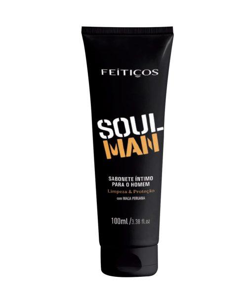 """O Sabonete Íntimo masculino Soul Man - Feitiços foi feito para você que é um """"homem de alma"""", vai se surpreender ao usar o nosso sabonete íntimo masculino Soul Man."""