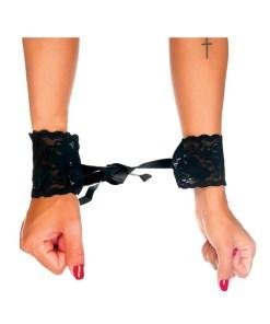 Algema de Renda com fitas de Cetim para amarrar