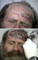 "I actually have an ""FTW"" tattoo myself, although mine is on my shoulder, where it's not quite as obvious as this guy's. Picture source: http://www.tattoobite.com/tattoos/forehead-tattoos/page/10/."